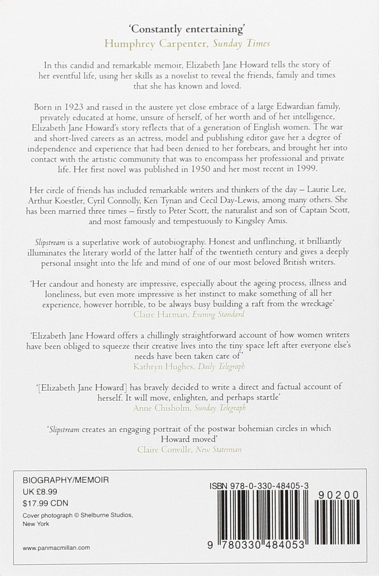 Slipstream A Memoir Elizabeth Jane Howard 9780330484053 Amazon