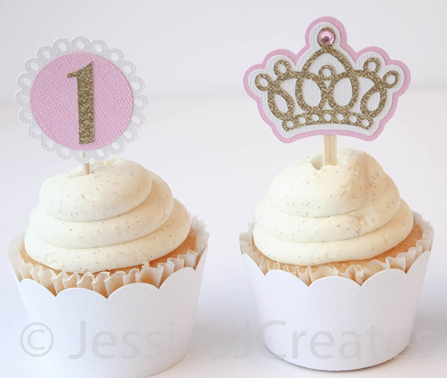 Amazon Crown Cupcake Toppers
