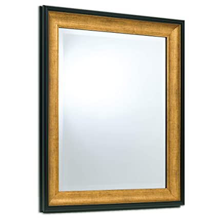 cf147640d242 Amazon.com  Wall Beveled Mirror Framed - Bedroom or Bathroom Rectangular  Frame Hangs Horizontal   Vertical by EcoHome (26x32