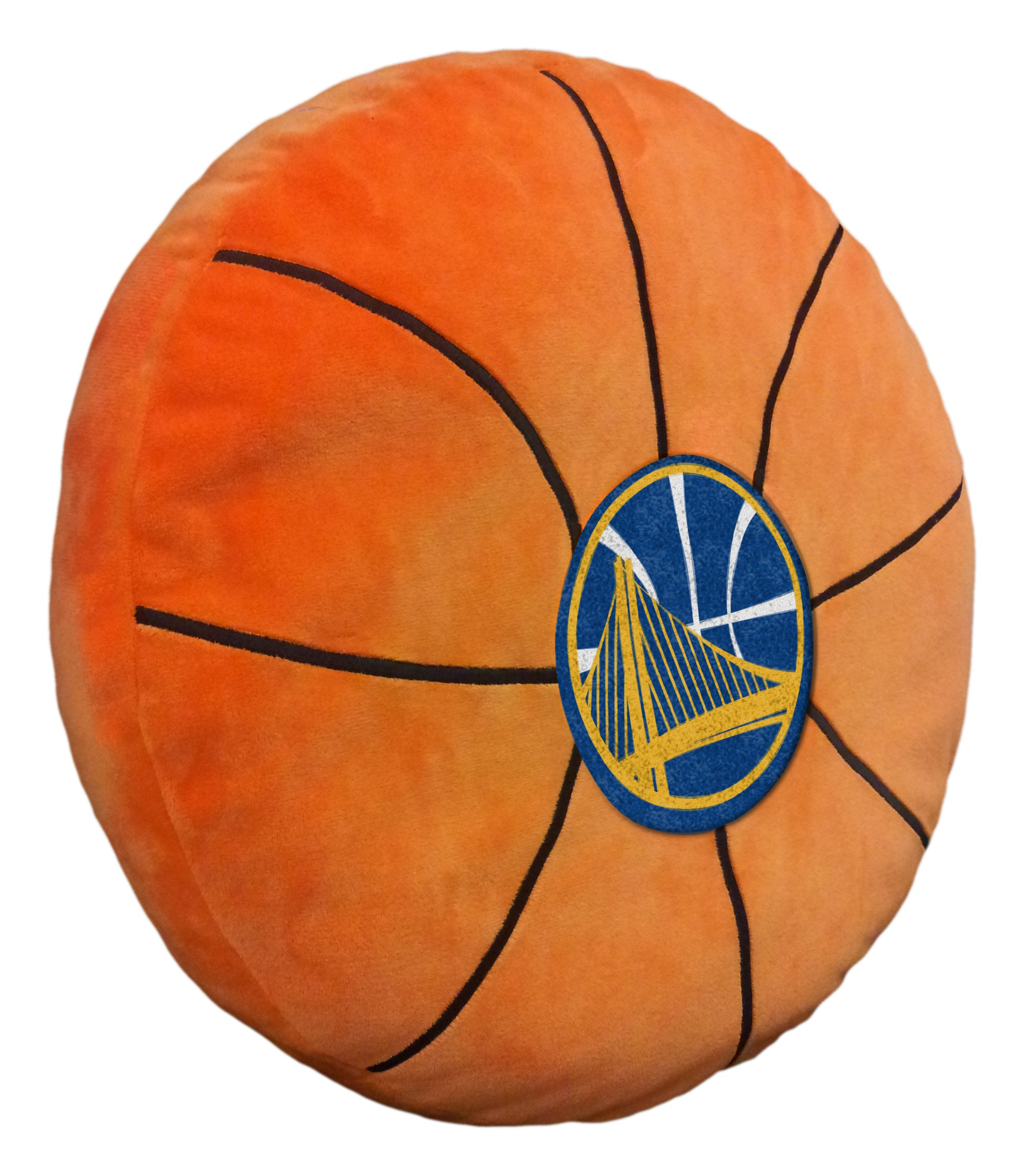 Officially Licensed NBA Golden State Warriors ''3D'' Basketball Shaped Pillow, Orange, 15'' x 15'' x 2'' by The Northwest Company