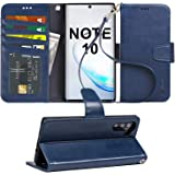 Arae Wallet Case for Samsung Galaxy Note 10 / Note 10 5G PU Leather flip case Cover [Stand Feature] with Wrist Strap and ID&C
