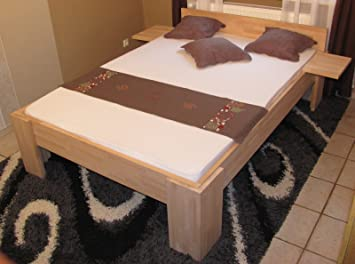 Doppelbett mit 55cm Sitzhöhe massives Senioren-Doppelbett 200x200cm ...