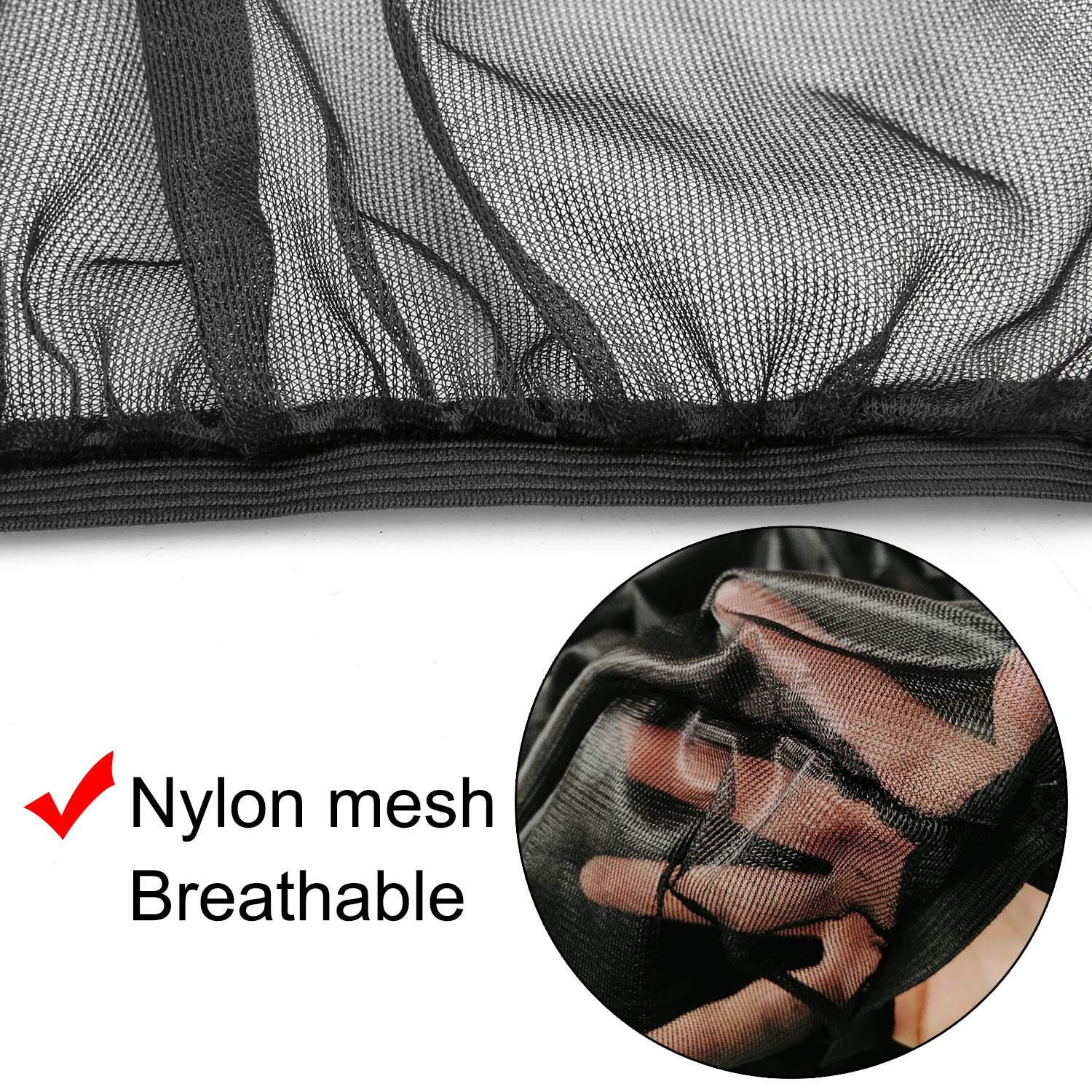 FICBOX 2Pack Car Side Window Shade Universal Sunshades Breathable Mesh Shield Protect Baby Pet from Sun\'s Glare & Harmful UV Rays Stretchable Fit for All Vehicle