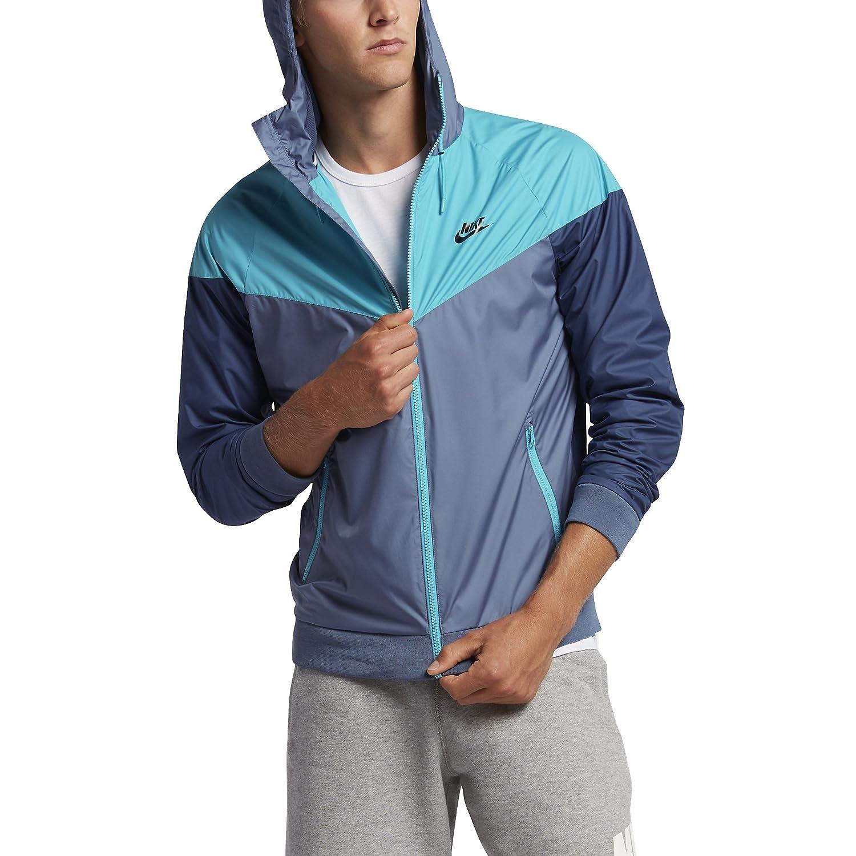 e33a86dec4 Nike Mens Windrunner Hooded Track Jacket Ocean Fog Omega Blue 727324-404  Size X-Large  Amazon.in  Sports