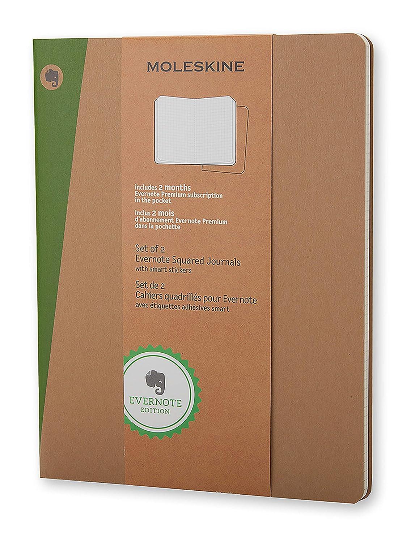 Moleskine SKQP422EVER - Pack de 2 diarios cuadriculados Evernote ...