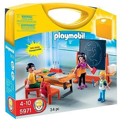 Playmobil 5971 - Jeu de construction - Valisette maîtresse et élèves