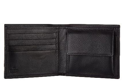 Gucci cartera billetera bifold de hombre en piel nuevo guccissima web negro: Amazon.es: Zapatos y complementos