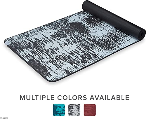 Gaiam Yoga Mat – 6mm Insta-Grip Extra Thick Dense Textured Non Slip Exercise Mat for All Types of Yoga Floor Workouts, 68 L x 24 W x 6mm Thick