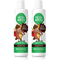 Fresh Monster Toxin-free Hypoallergenic 2-in-1 Kids Shampoo & Conditioner, Coconut, 2 count, 8oz.