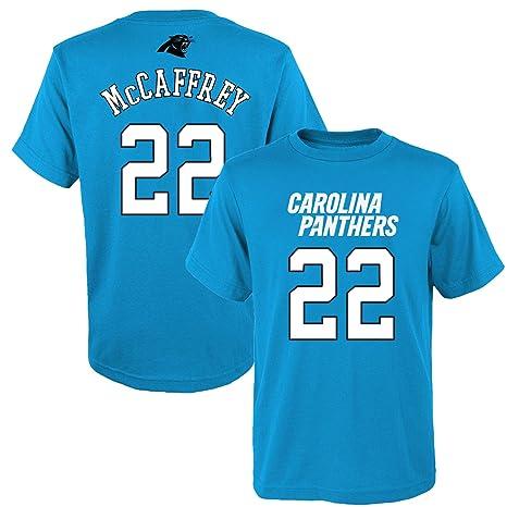 the latest 8e575 dc12f Outerstuff Christian McCaffrey Carolina Panthers #22 Blue Youth Name &  Number Shirt