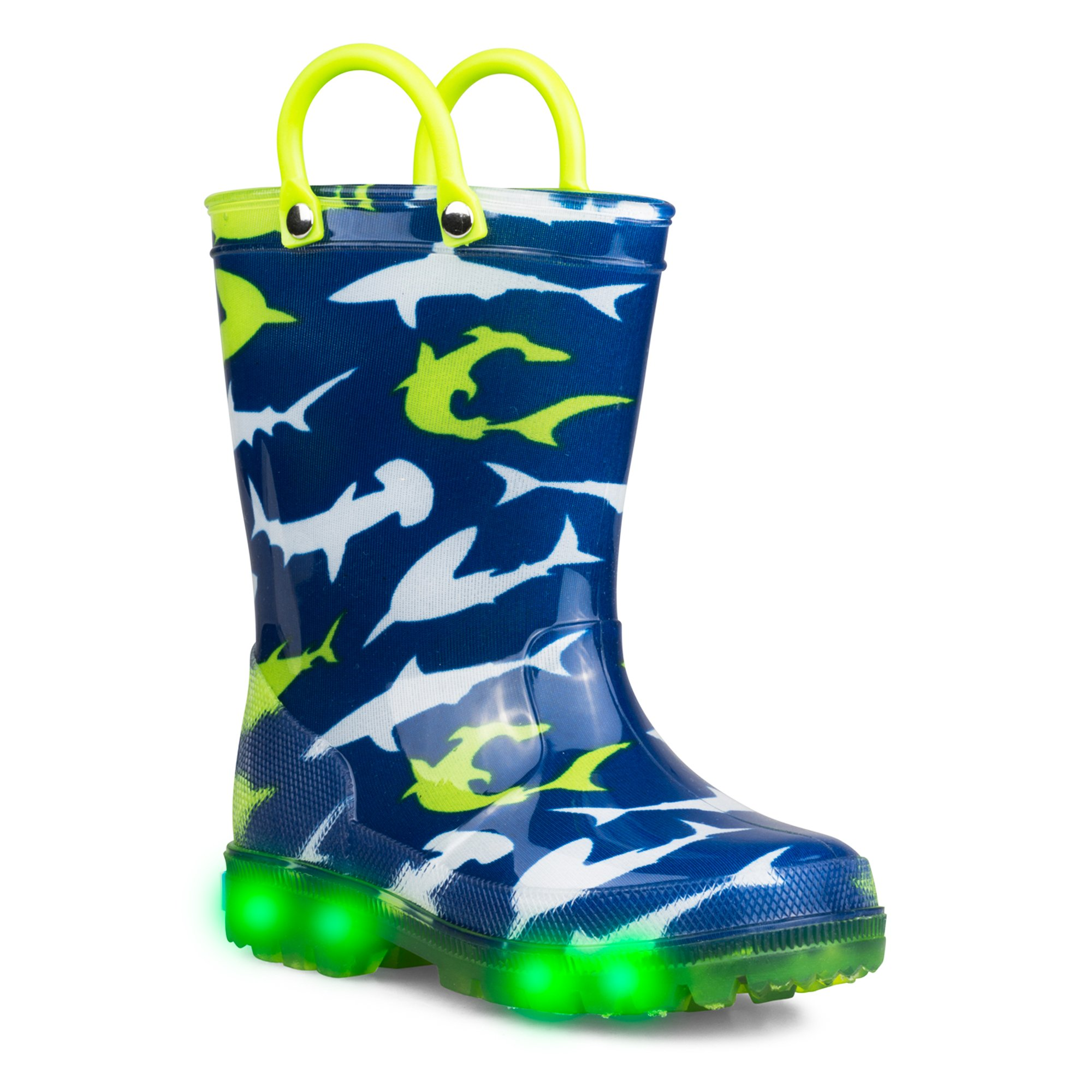 ZOOGS Kids Light-up Rainboots, Waterproof, Pull Handles, Fun Colors