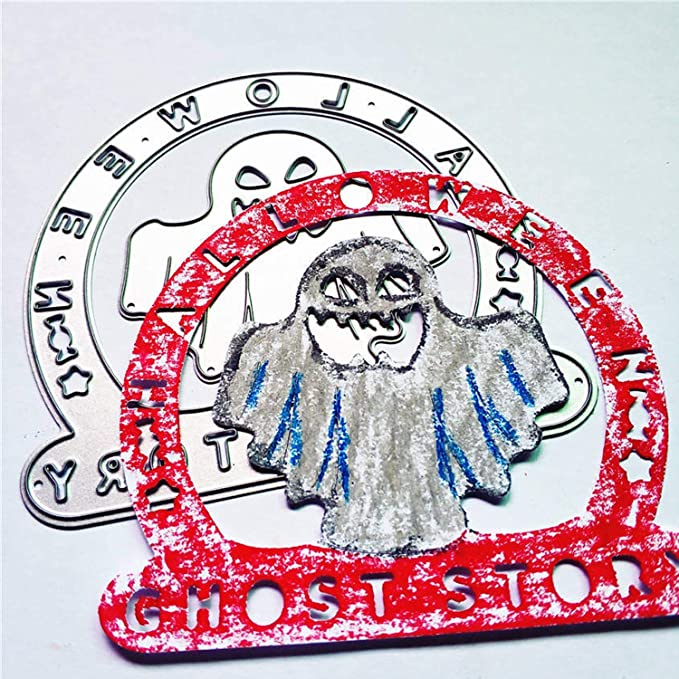 Halloween elementos de acero al carbono Ghost repujado corte matrices plantillas molde para DIY álbum de Scrapbooking tarjetas de papel suministros de ...