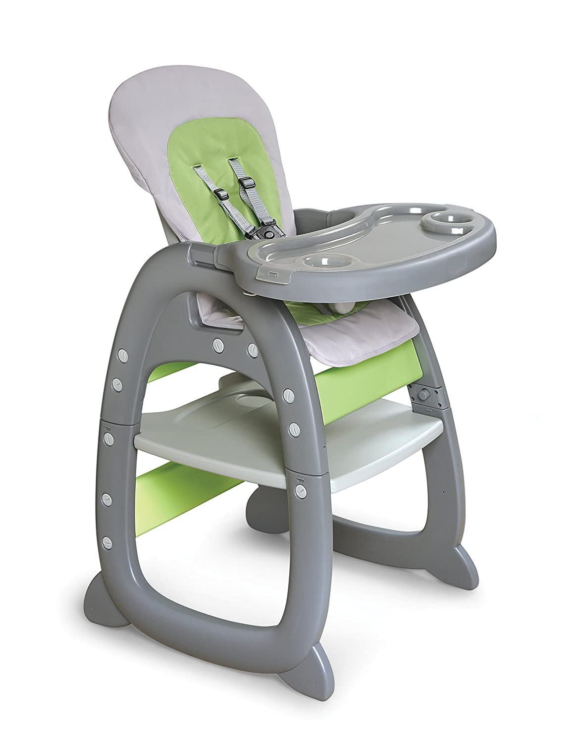2017 05 graco blossom high chair colors - Amazoncom Badger Basket Envee Ii Baby High Chair With Playtable Conversion Graygreen Baby