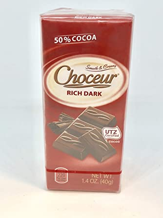 Choceur Rich - Pastillas de chocolate oscuro (1.41 oz, 5 ...