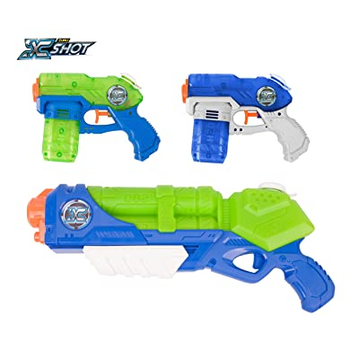Zuru X Shot Promo Pack Water Blaster Toy (Typhoon Thunder & 2 Small Stealth Soakers): Toys & Games