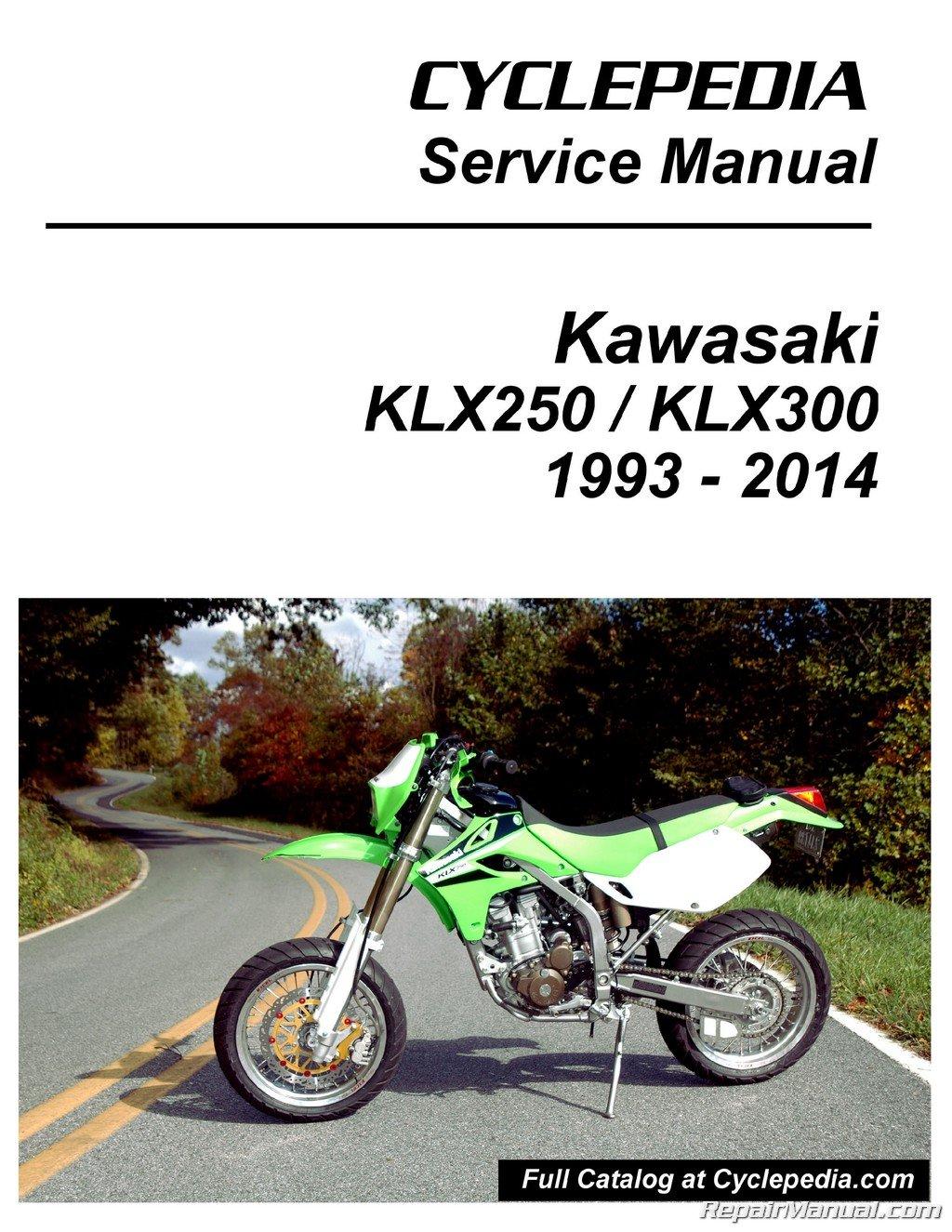 CPP-111-P Kawasaki KLX250 KLX300 Printed Cyclepedia Motorcycle Service  Manual: Manufacturer: Amazon.com: Books