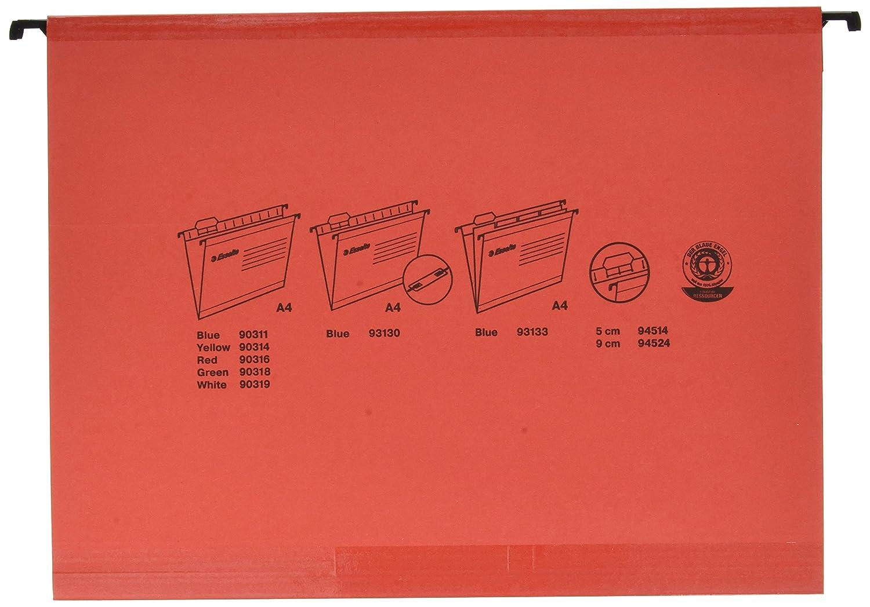 Esselte Carpeta colgante, Tamaño A4, Cartón kraft reciclado, Visor de plástico transparente, Azul, Classic, 90311, Caja de 25: Amazon.es: Oficina y ...