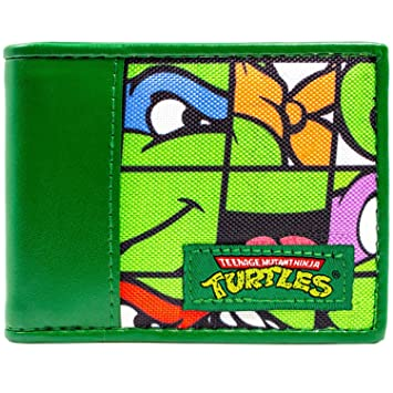 Cartera de Nickelodeon Ninja Turtles Las Caras de baldosas Verde: Amazon.es: Equipaje
