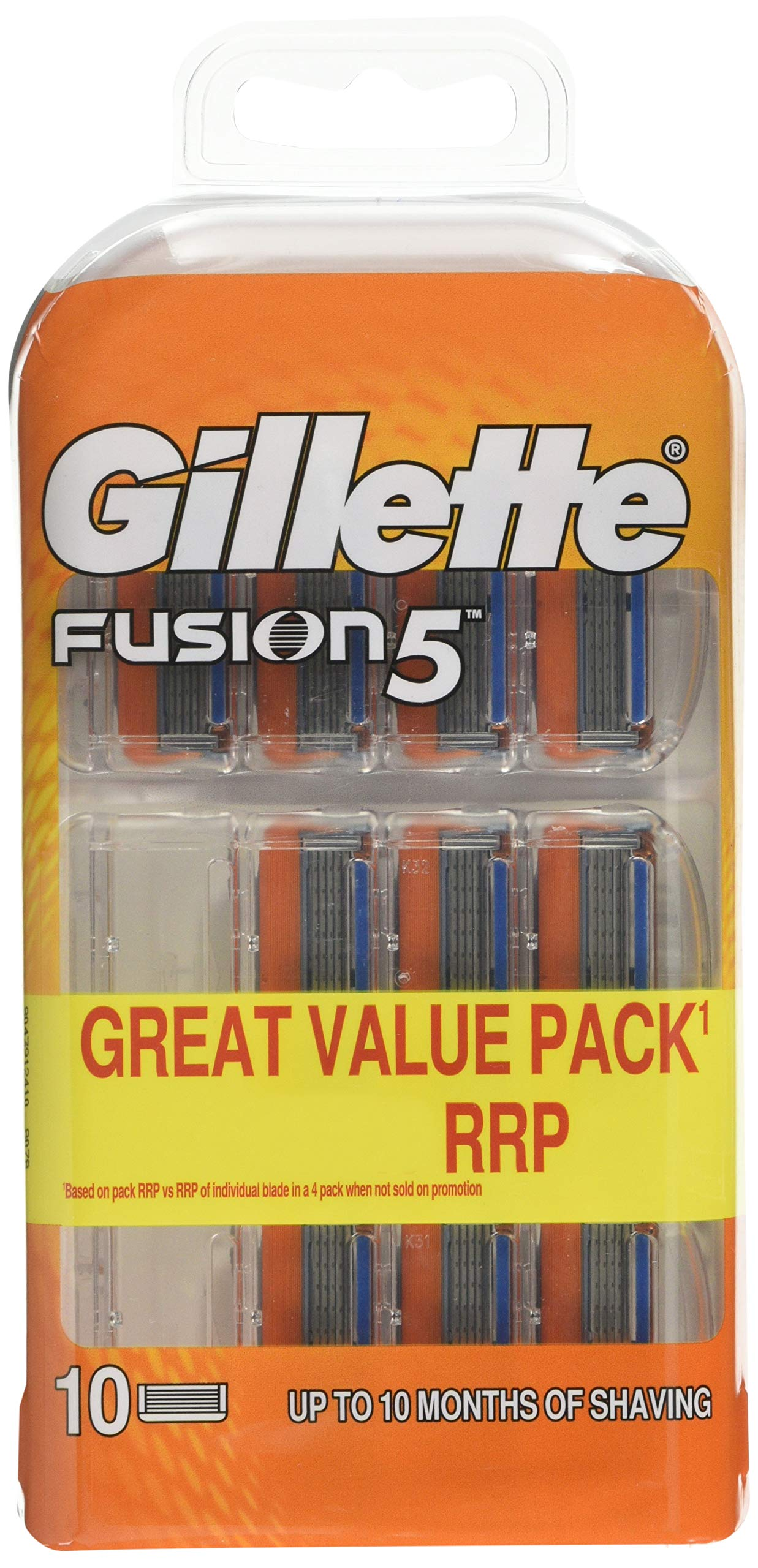 Gillette Fusion Razor Blades, 10 Refills, Packaging May Vary product image