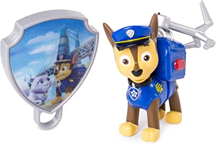 Paw Patrol Action Pack Pup /& Badge Rubble Rocky Pull Back Up Skye Zuma Chase