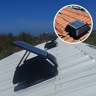 20 W solar desván Ventilador 1520 M3/H superleiser con energía solar alimentado techo de Extractor para ventilación de techo estancias y desvanes: Amazon.es
