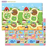 Amazon Price History for:Baby Care Play Mat Foam Animal Floor Gym, Busy Farm, Large