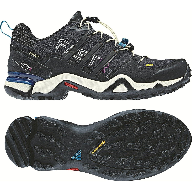 adidas outdoor Womens Terrex Fast R GTX W B008B1PK9Q 10.5 M US|Solid Grey / Black / Vivid Teal