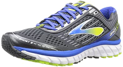 1700e076d0d Brooks Men s Ghost 9 Anthracite Electric Brooks Blue Lime Punch 7 ...