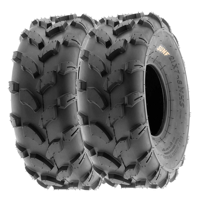 Set of 2 SunF 18x7-8 18x7x8 ATV UTV All Terrain Trail Replacement 6 PR Tubeless Tires A003,