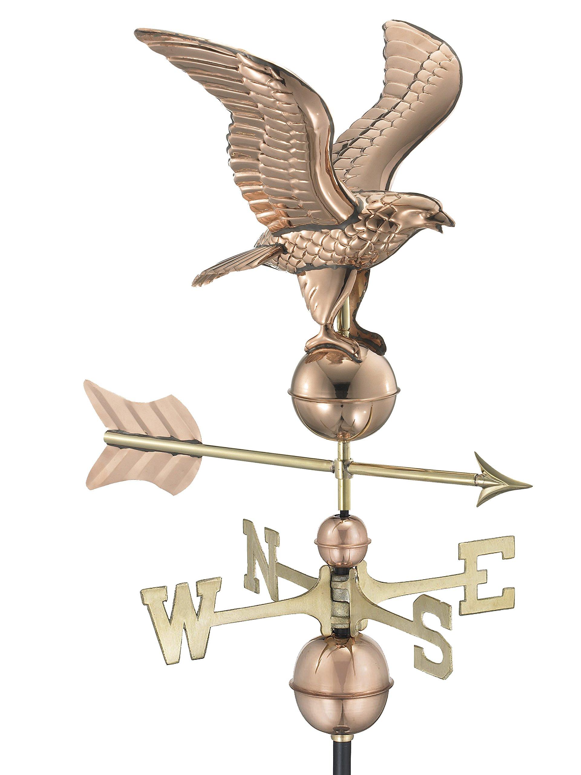 Good Directions American Eagle Weathervane, Pure Copper