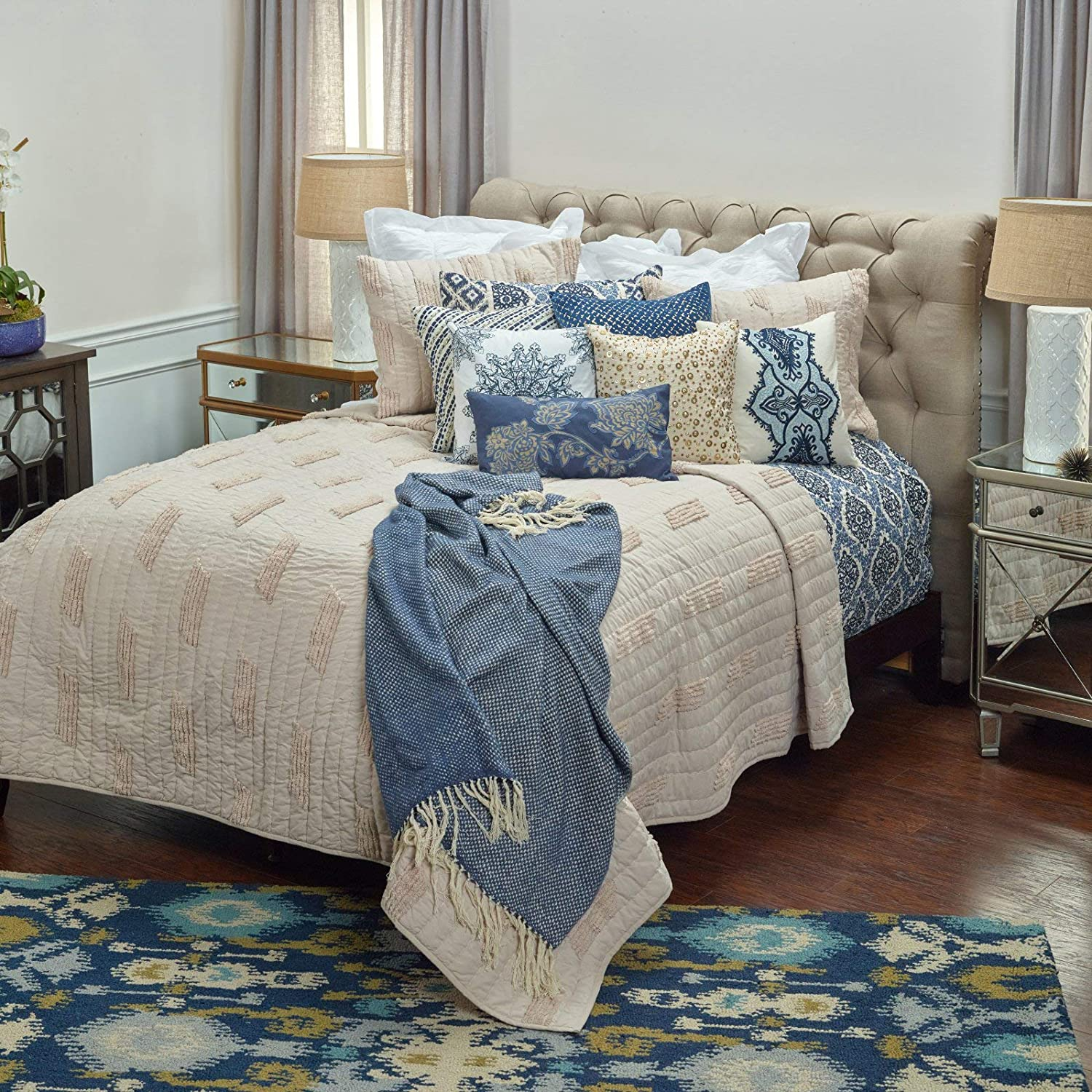 Rizzy Home Alice Queen Size Quilt 90 Inches X 92 Inches