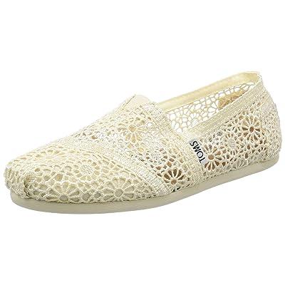 TOMS Women's Crochet Classics Flat   Loafers & Slip-Ons