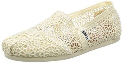 375c884cd02 TOMS Women s 10007858 Natural Moroccan Crochet Alpargata Flat 5 ...