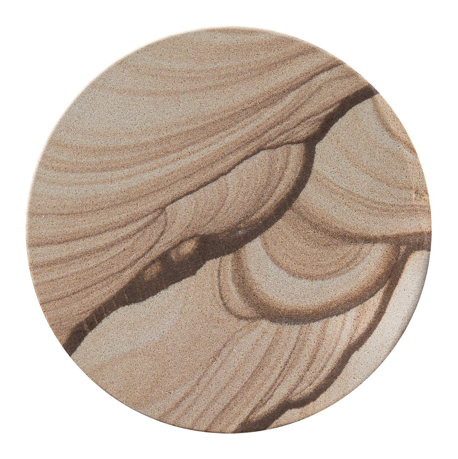 Thirstystone Brand - Desert Sand Coaster, Multicolor All Natural Sandstone - Durable Stone with Varying Patterns, Every Coaster Is An Original by Thirstystone