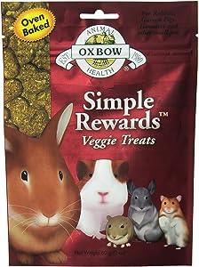 Oxbow SIMPLE REWARDS Treats - Rabbits Guinea Pigs Chinchillas 2oz