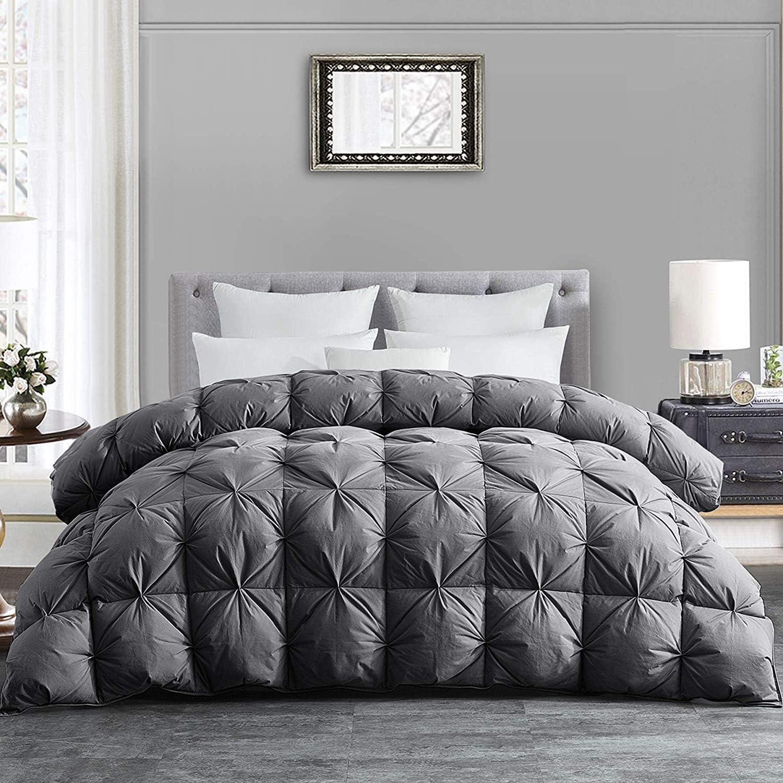 Hombys King Size Gray Goose Down Comforter