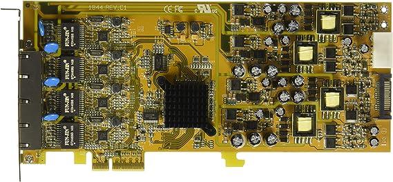 StarTech.com 4 Port Gigabit Power over Ethernet PCIe Network Card - PSE / PoE PCI Express NIC - Quad Port NIC - PoE Card (ST4000PEXPSE)