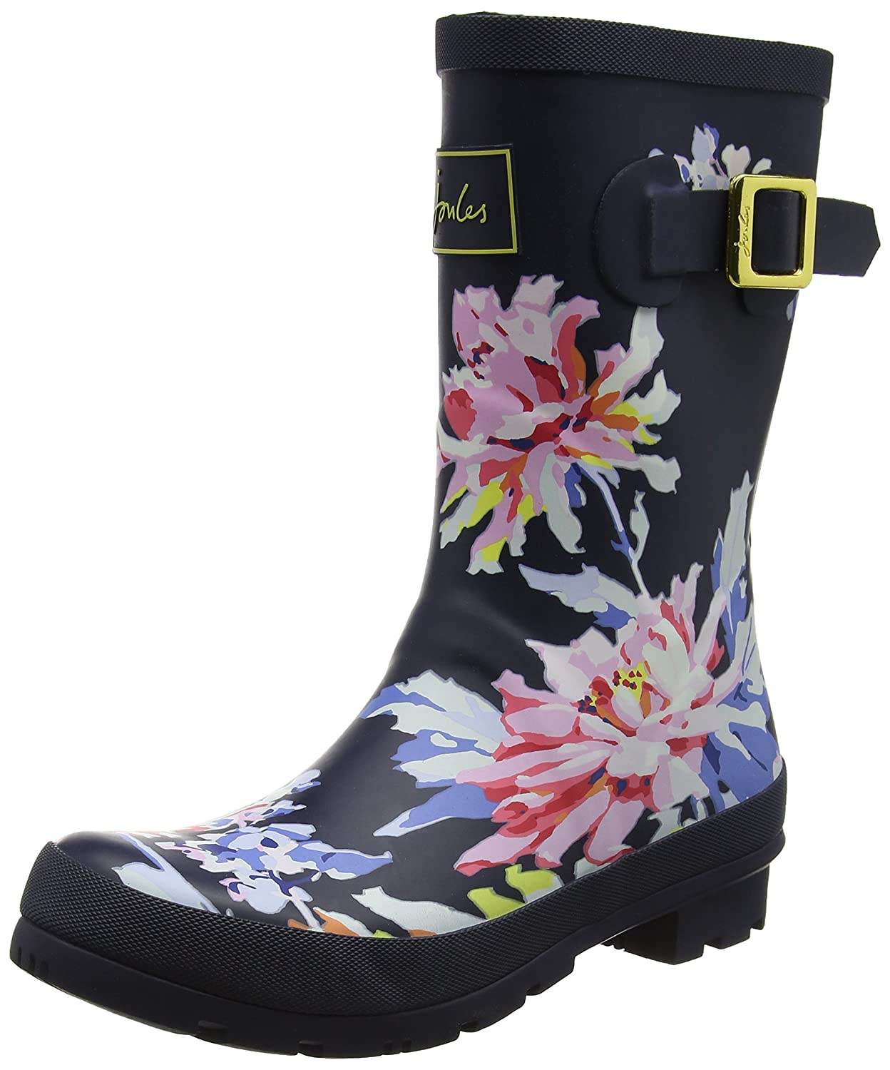 Joules Women's Molly Welly Rain Boot B073XJTR74 5 B(M) US|Navy Whitstable Floral Rubber