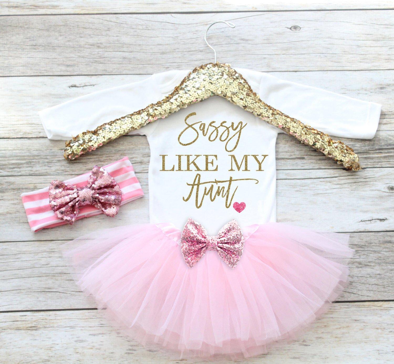 Amazon Com Baby Girl Clothes Sassy Like My Aunt Newborn Coming