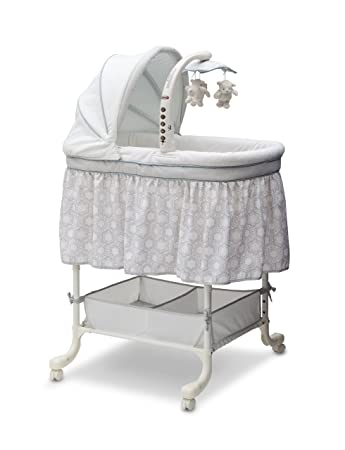 Children Gliding Bassinet Baby Nursery Bedroom Furniture Sound music Mobile New