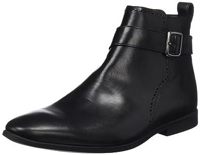 Bampton Mid, Bottes Chelsea Homme - Noir (Black Leather), 47 EU (12 UK)Clarks
