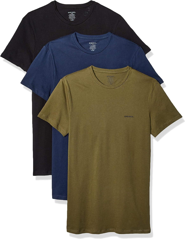 Diesel UMTEE-JAKETHREEPACK, Camiseta para Hombre, Pack de 3