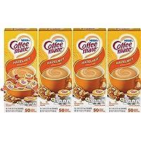Nestle Coffee mate Coffee Creamer, Hazelnut, Liquid Creamer Singles, Box of 50 Singles (Pack of 4)