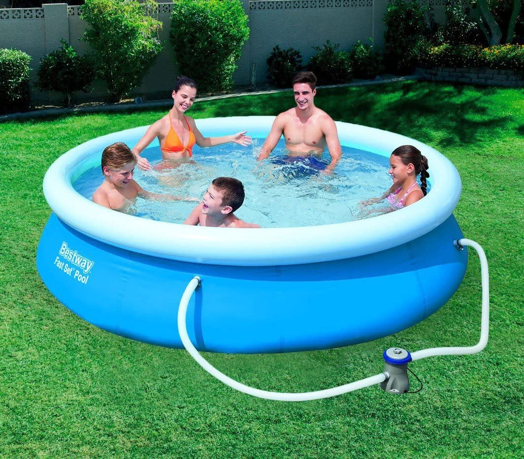 57270 Piscina redonda hinchable Bestway 305 x 76 cm PVC: Amazon.es ...