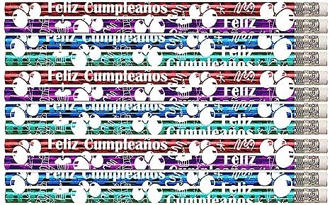D1360 Feliz Cumpleanos (Spanish) - 36 Happy Birthday Pencils