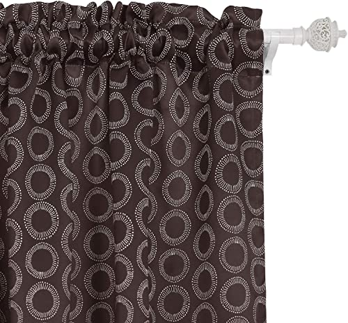 Deconovo Rod Pocket Thermal Insulated Blackout Drapes Curtains for Bedroom, 52×95, Brown