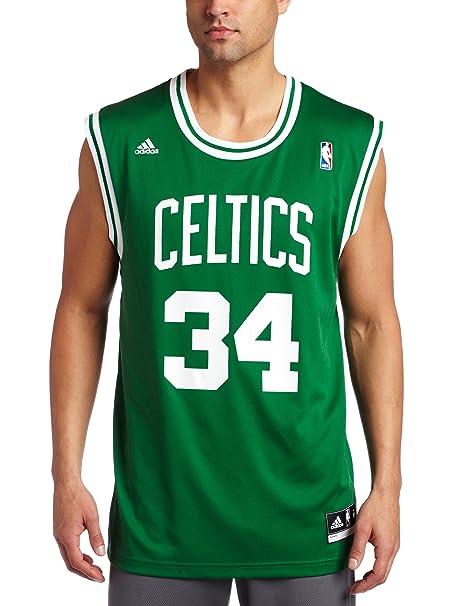 the best attitude e6893 6be0d Amazon.com : Boston Celtics Paul Pierce Men's Green NBA ...