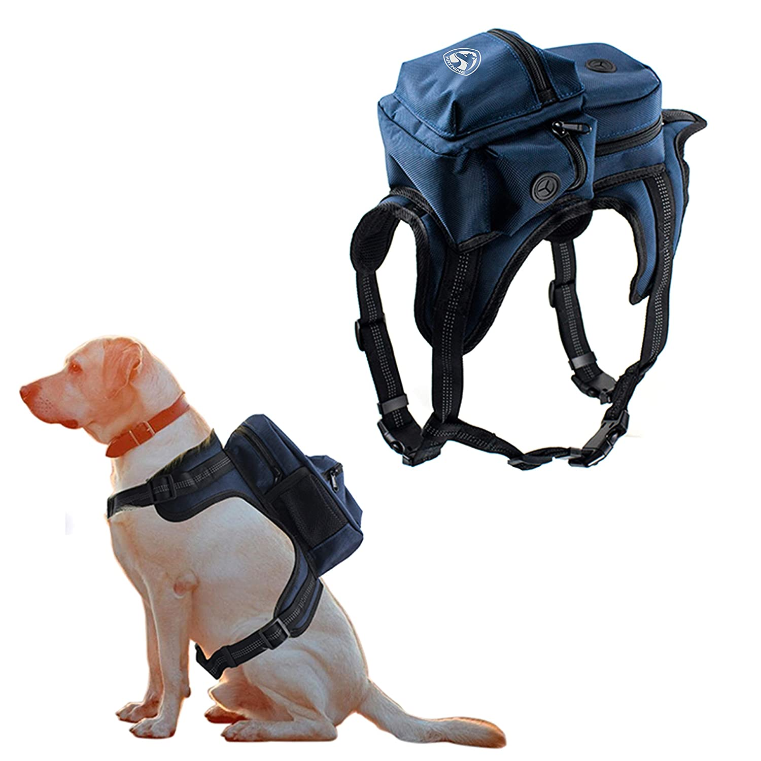 Kaynine Dog Backpack for Travel Camping Hiking Walking Training with Adjustable Straps Size Small Medium Large Black) Kaynine Pack