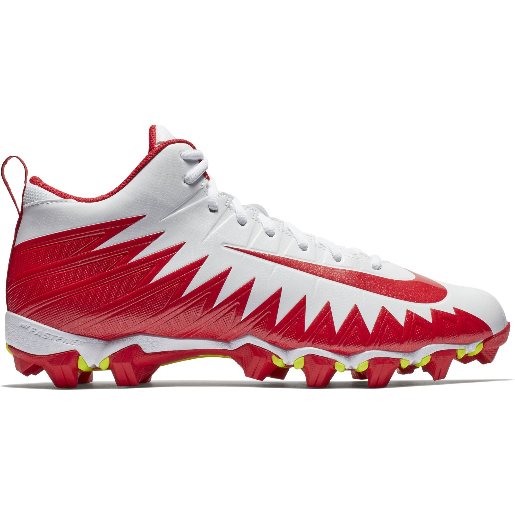 NIKE Men's Alpha Menace Shark Football Cleat White/University Red Size 8 M US