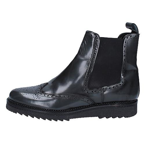 SALVO BARONE Botines Hombre Cuero Brillante Gris: Amazon.es: Zapatos y complementos